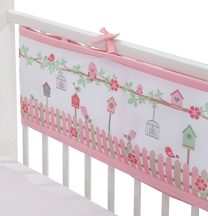 BreathableBaby Cot Mesh Liner (English Garden)