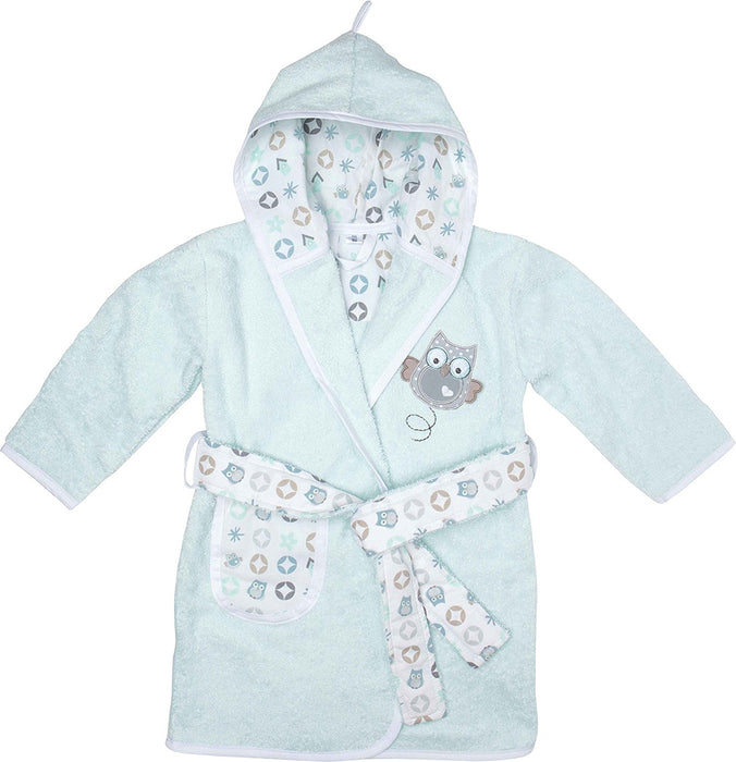 bébé-jou 301632 baby bath robe - baby bath robes (Cotton, Blue, Monotone)