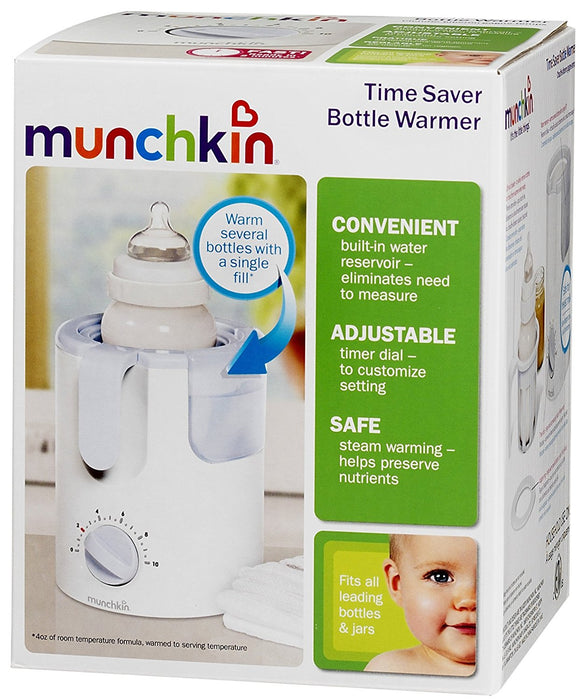 Munchkin Time Saver Bottle Warmer, White