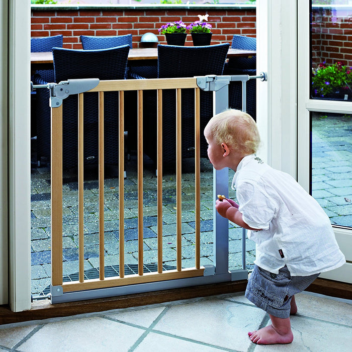 Baby Dan 54217-5790-02-85 Designer Safety Gate 69.1 - 75.8 cm Natural / Silver