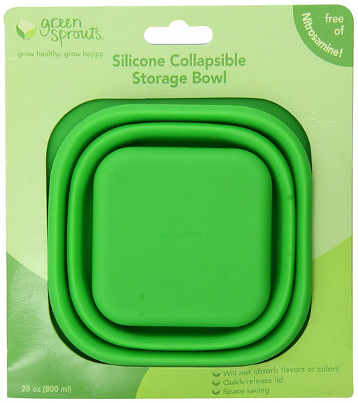 green sprouts Collapsible Silicone Storage Bowl, Green