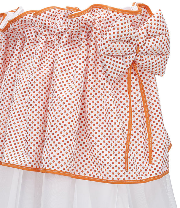 Câlin Câline Nina 105.26 Cot Drape White with Red Spots