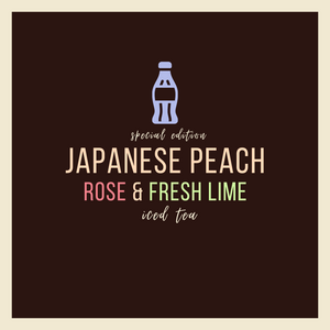 Japanese Peach, Rose & Fresh Lime Iced Tea