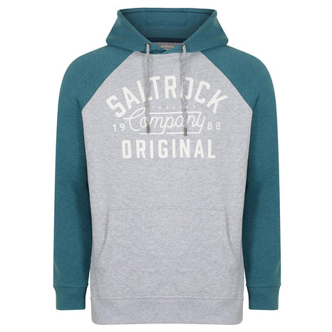 Saltrock - Baller - Men's Raglan Pop Hoodie - Blue/Grey