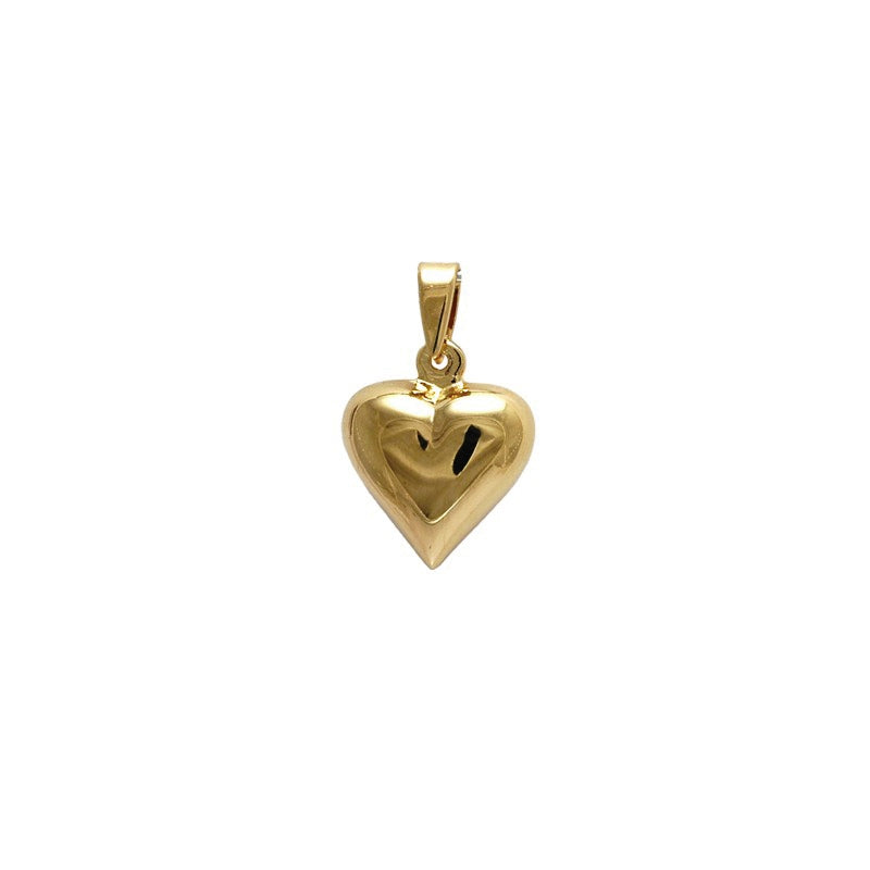 18kt gold filled bubble heart pendant (small)