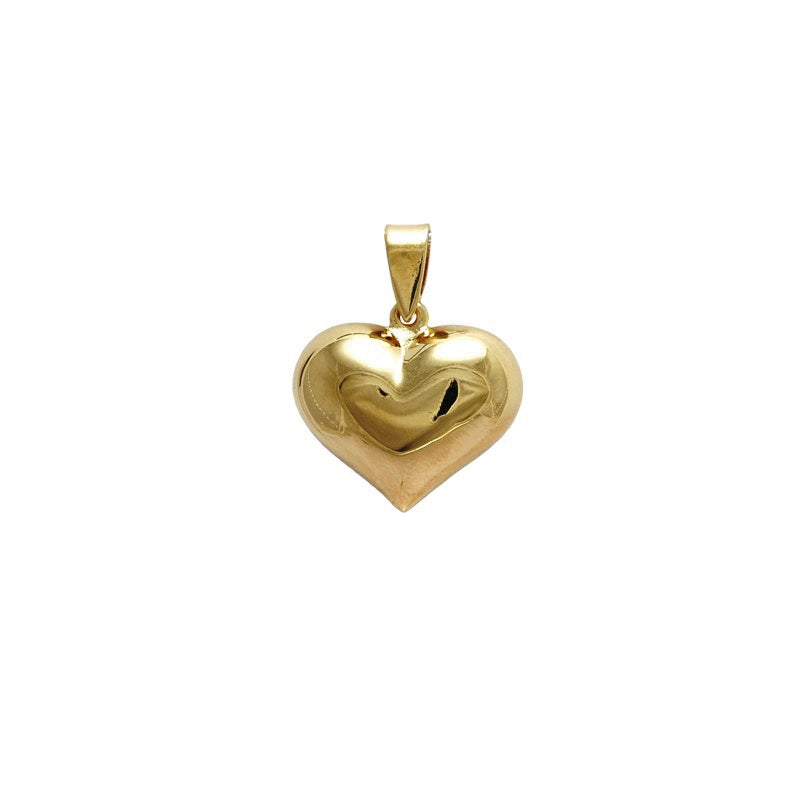 18kt gold filled bubble heart pendant
