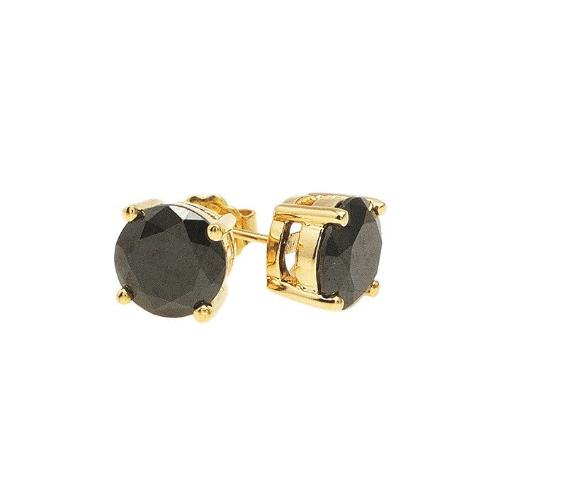 Gold filled 18kt black studs (8mm diameter)
