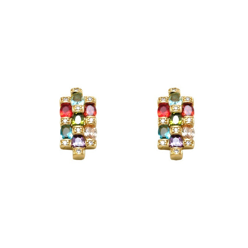 multi coloured 18kt gold filled earings