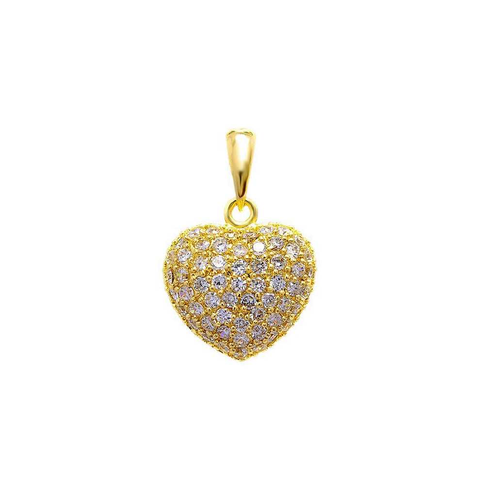 18kt gold filled heart pendant (small)