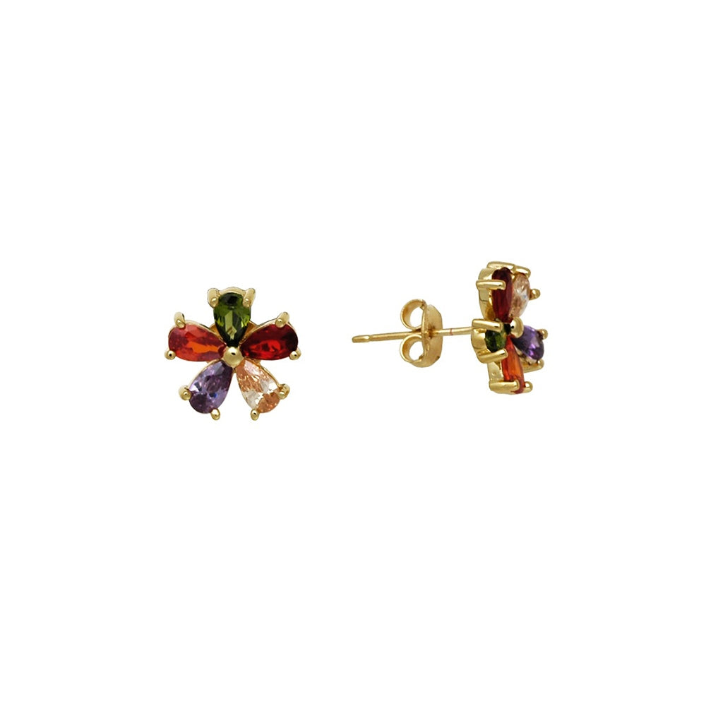 18kt gold filled multi coloured buttercup earrings