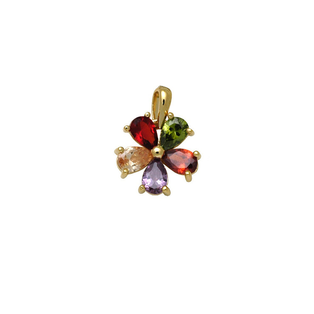 18kt gold filled multi coloured buttercup pendant