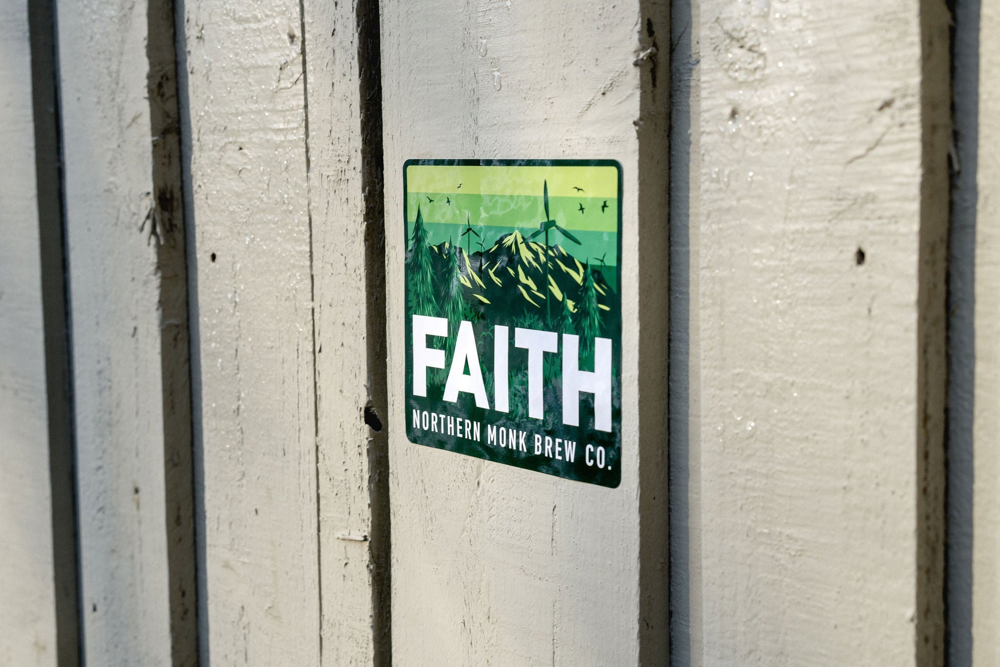 GREEN FAITH STICKER