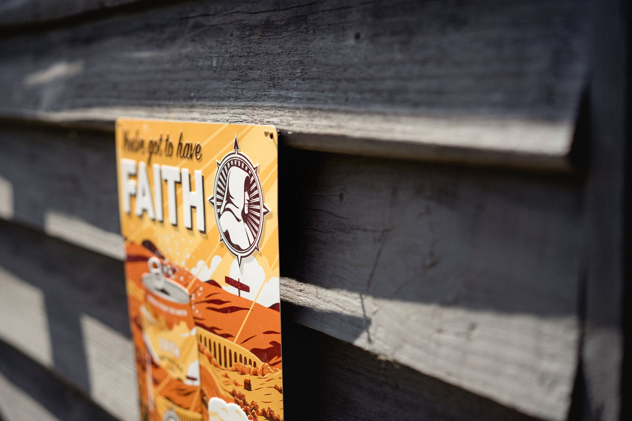 YOU'VE GOT TO HAVE FAITH EMBOSSED SIGN