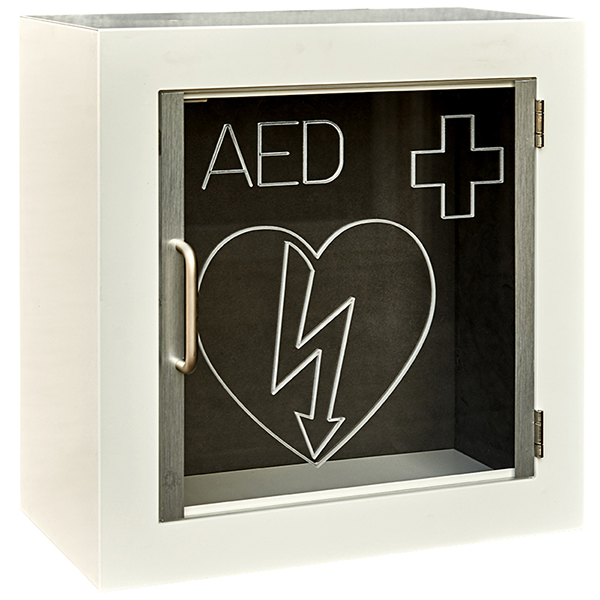 Outdoor cabinets for defibrillator