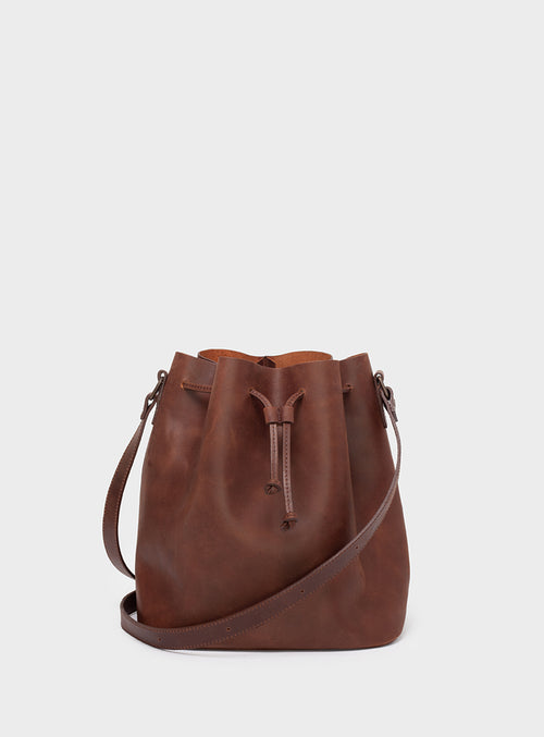 BB01 Bucket Bag Dark-Brown  - View 1
