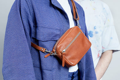 PARK Crossbody Bag CB04 Mini Brown, scenery