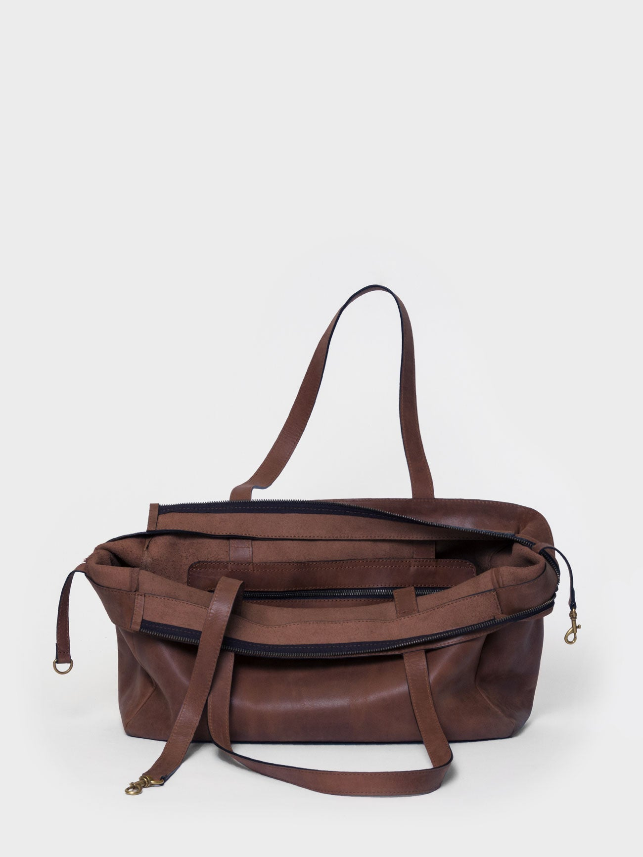 PARK Tote Bag TB03 ZIP Dark-Brown