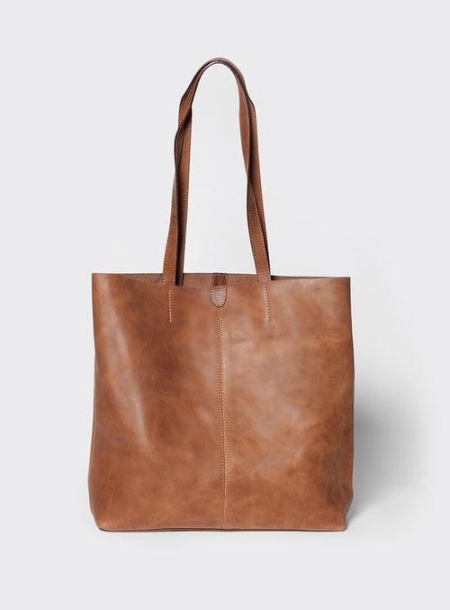 TB02 Tote Bag Brown  - View 1