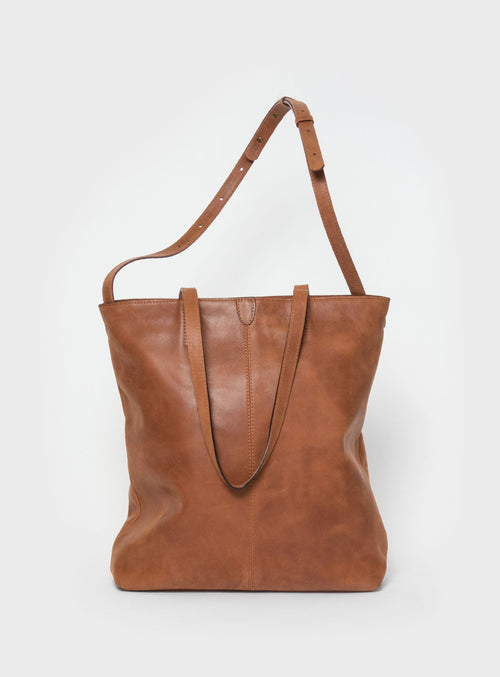 TB02 ZIP PLUS Tote Bag Brown  - View 1