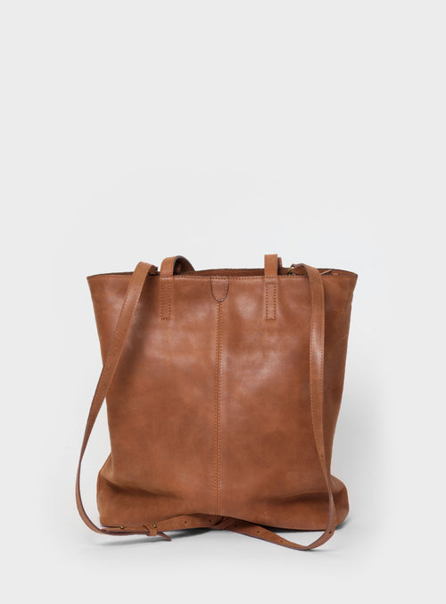 TB02 ZIP PLUS Tote Bag Brown - View 2