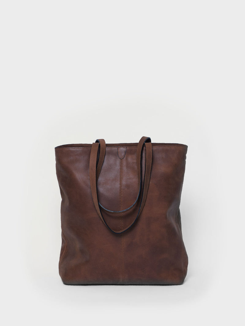 PARK Tote Bag TB02 ZIP PLUS Dark-Brown