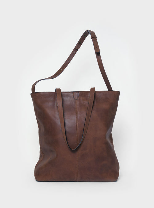 TB02 ZIP PLUS Tote Bag Dark-Brown  - View 1