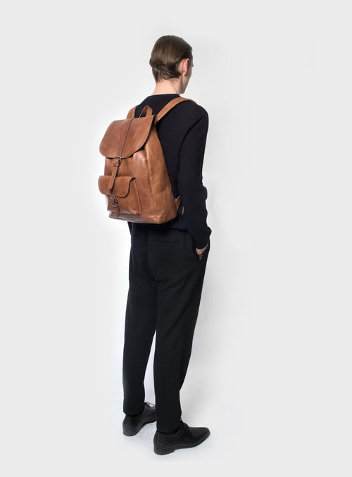 BP01 Backpack Brown - View 2