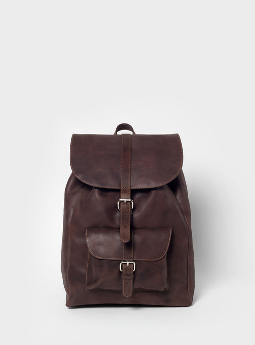 BP01 Backpack Dark-Brown  - View 1