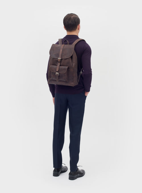 BP01 Backpack Dark-Brown - View 2
