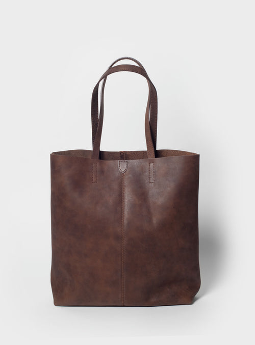 TB02 Tote Bag Dark-Brown  - View 1