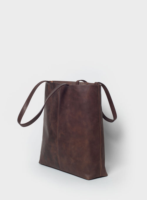 TB02 Tote Bag Dark-Brown - View 2