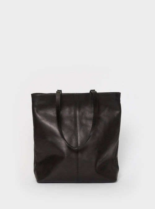 TB02 ZIP Tote Bag Black - View 2