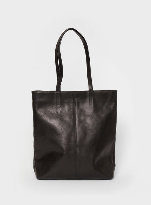 TB02 ZIP Tote Bag Black  - View 1