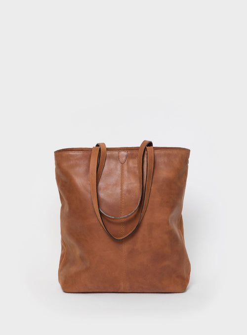 TB02 ZIP Tote Bag Brown - View 2