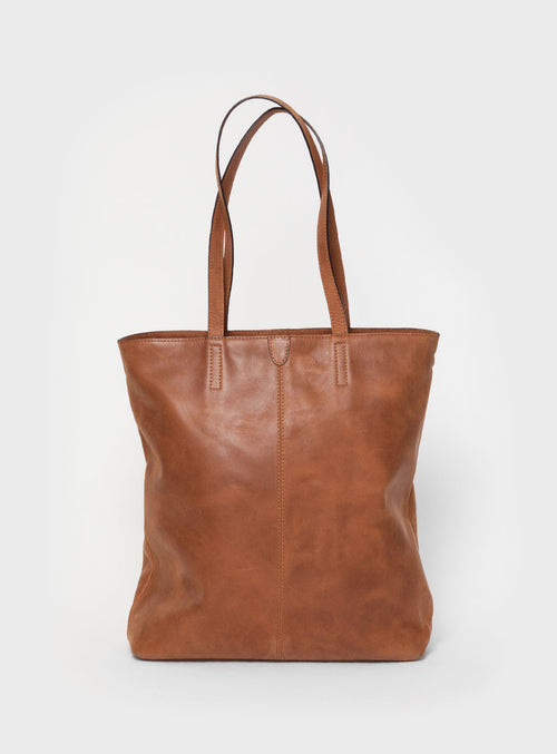 TB02 ZIP Tote Bag Brown  - View 1