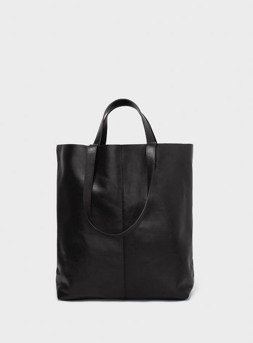 TB02 STRAPS Tote Bag Black - View 2