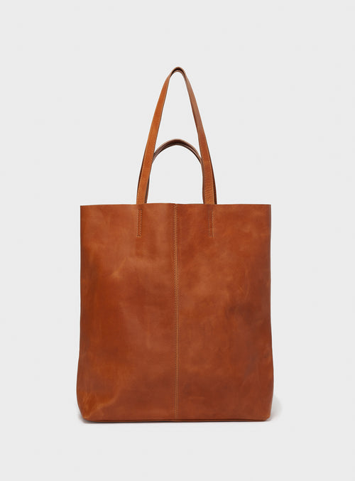 TB02 STRAPS Tote Bag Brown  - View 1