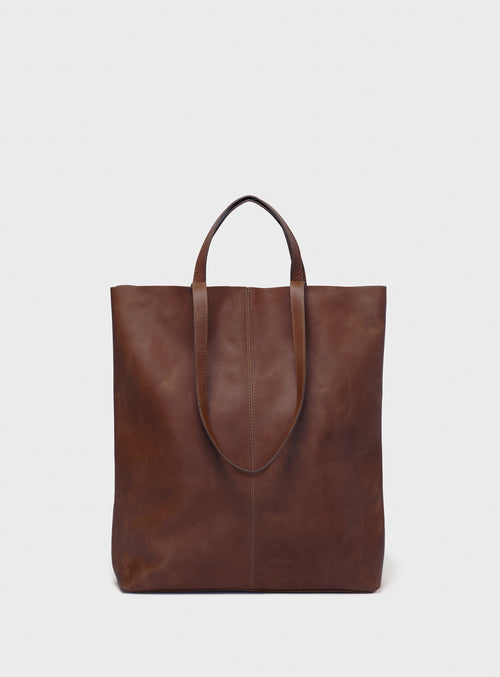 TB02 STRAPS Tote Bag Dark-Brown - View 2