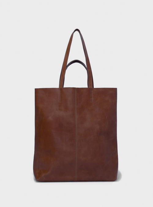 TB02 STRAPS Tote Bag Dark-Brown  - View 1