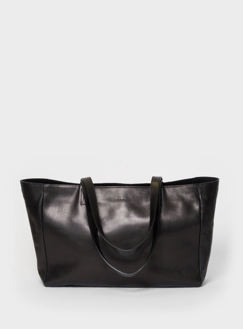 TB03 ZIP Tote Bag Black  - View 1