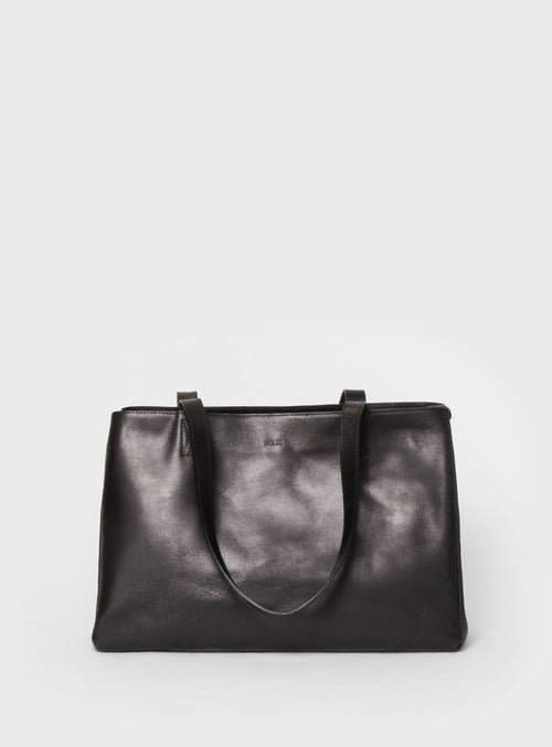 TB03 ZIP Tote Bag Black - View 2