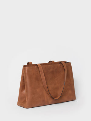 PARK Tote Bag TB03 ZIP Brown