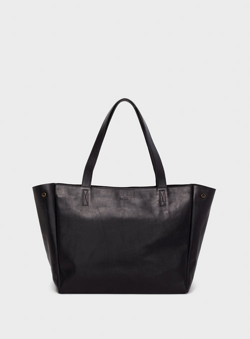 TB06 ZIP Tote Bag Black  - View 1