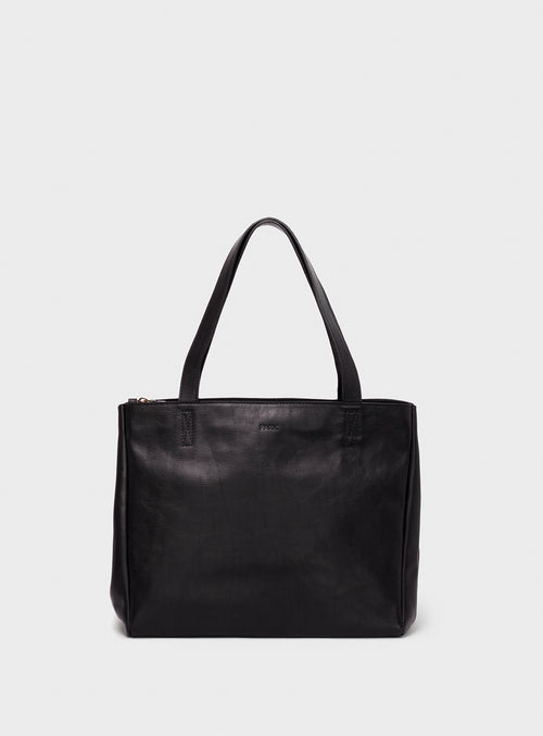 TB06 ZIP Tote Bag Black - View 2