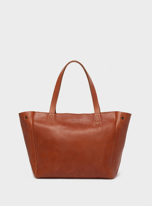 TB06 ZIP Tote Bag Brown  - View 1
