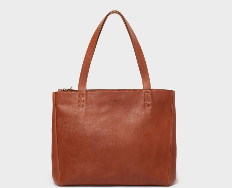 PARK Tote Bag TB06 ZIP Brown