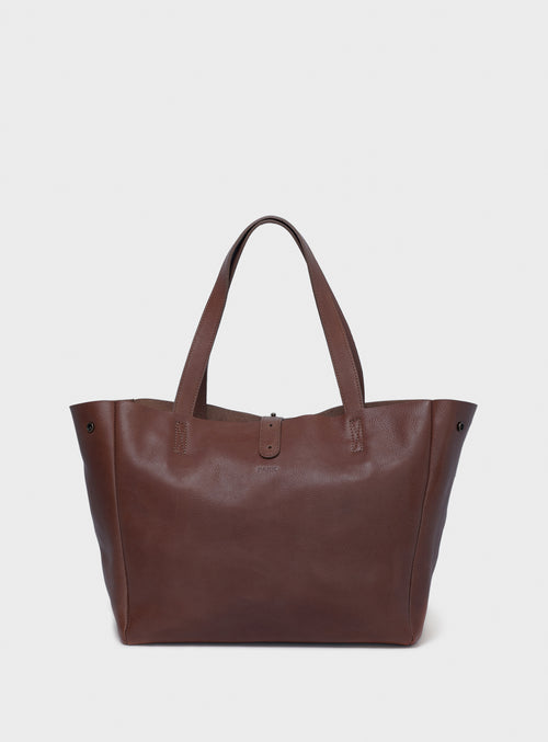 TB06 Tote Bag Dark-Brown  - View 1