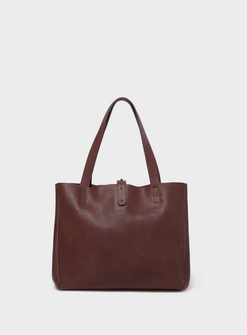 TB06 Tote Bag Dark-Brown - View 2