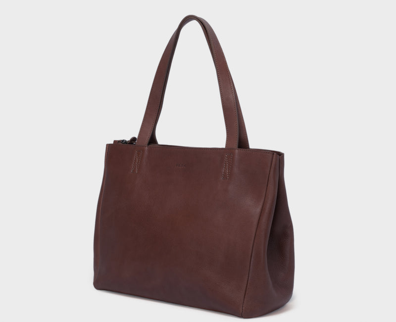 PARK Tote Bag TB06 ZIP Dark-Brown