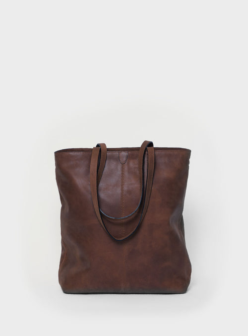 TB02 ZIP Tote Bag Dark-Brown - View 2